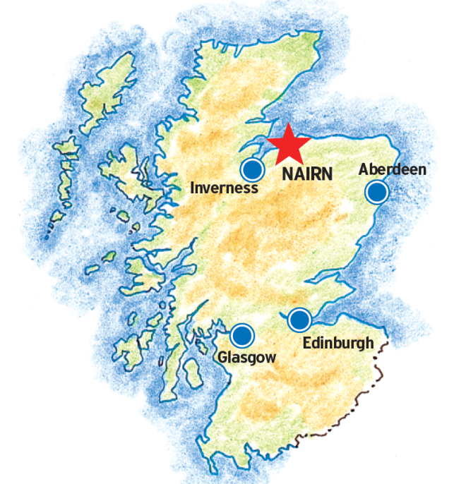 nairn scotland map