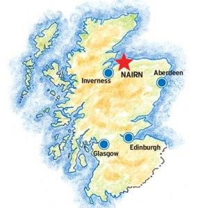 Nairn Highlands of Scotland
